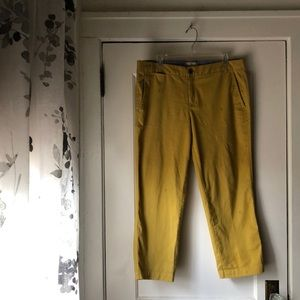 Mustard Yellow Banana Republic Crop Pants
